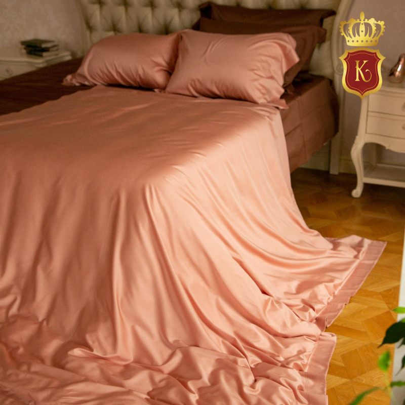 Комплект постельного белья MELANGE Пудро-коралловый