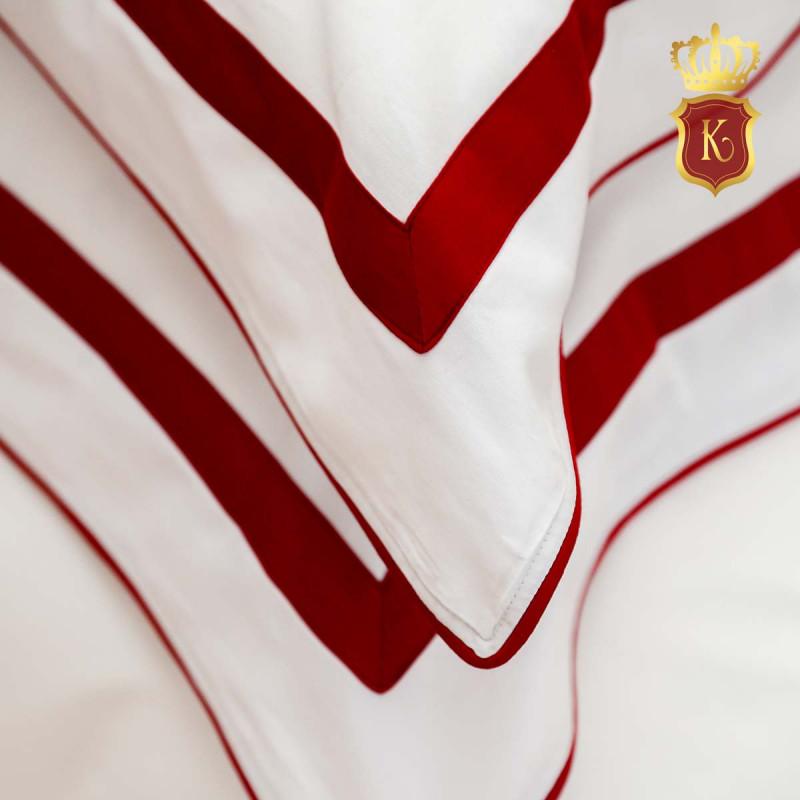 Комплект постельного белья MON PARIS Бело-красный