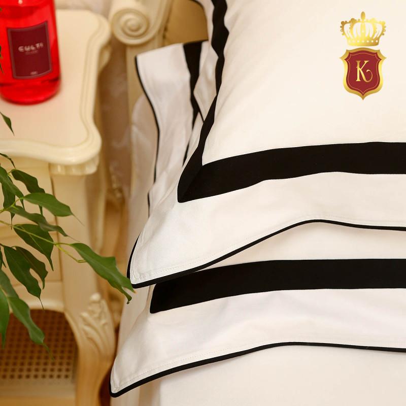 Комплект постельного белья MON PARIS Бело-черный
