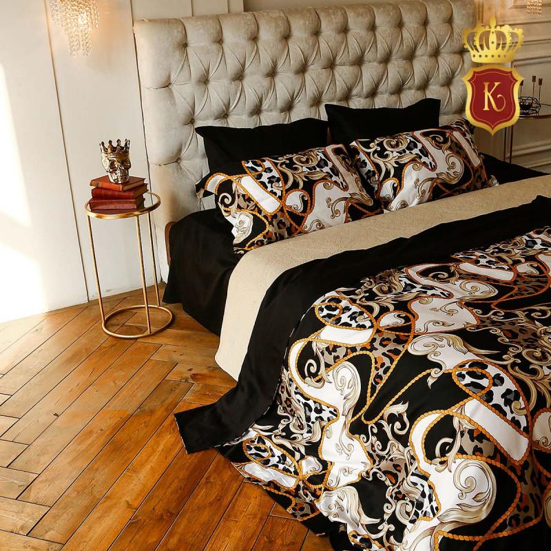 Комплект постельного белья VERSACE Черный
