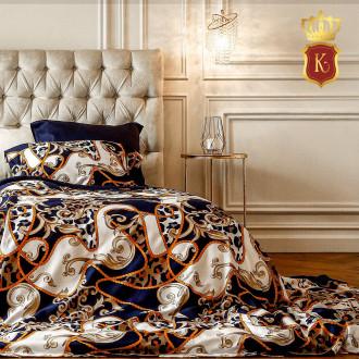 Комплект постельного белья VERSACE Синий