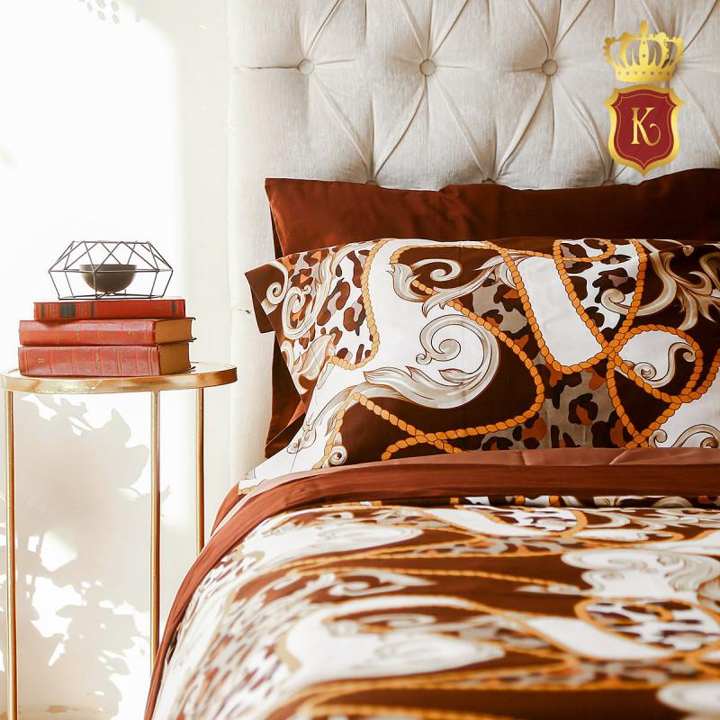 Комплект постельного белья VERSACE Коричневый